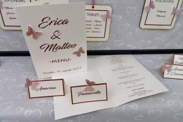 menu e segnaposti matrimonio