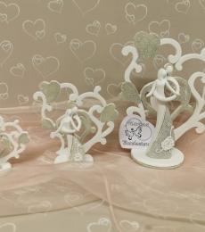 coppia sposi albero cuore