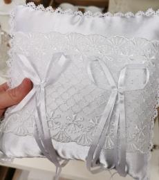 cuscinetto portafedi matrimonio bianco