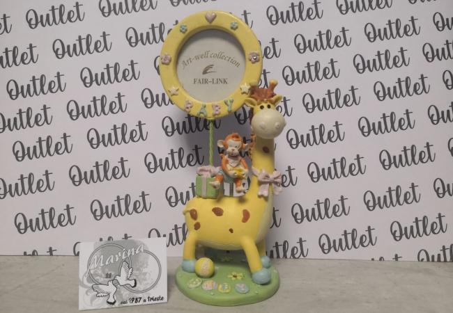 giraffa scimmia foto cornice battesimo