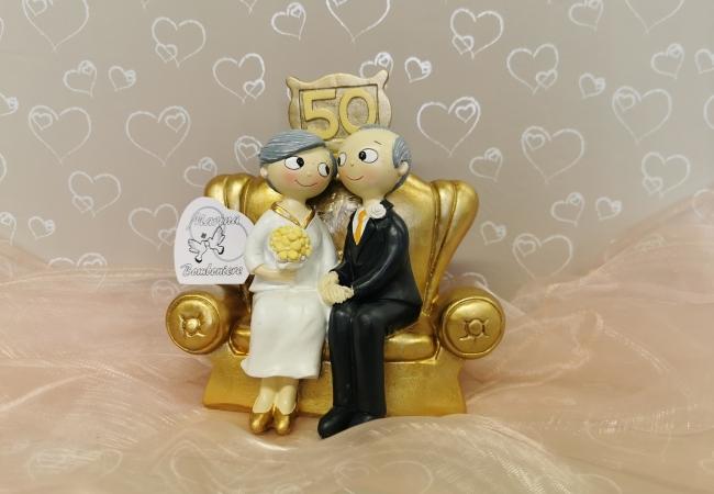 cake topper 50 anniversario centrotorta