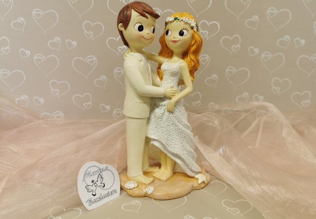 cake topper matrimonio spiaggia