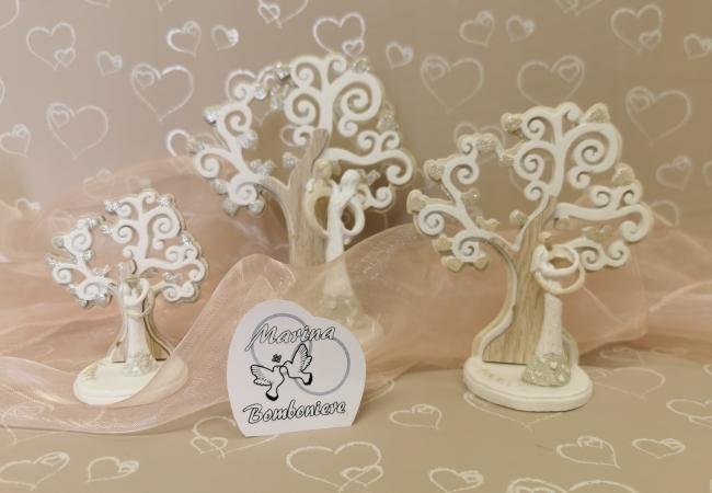 coppia sposi con albero della vita bomboniera