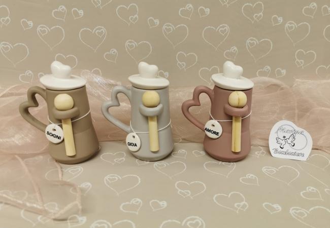 zuccheriera caffettiera con scritta